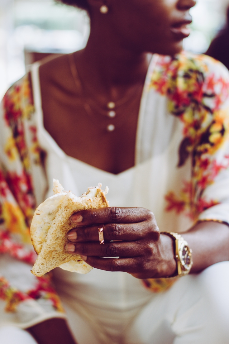 Bread in hands, hands in frame, bread, sunny side